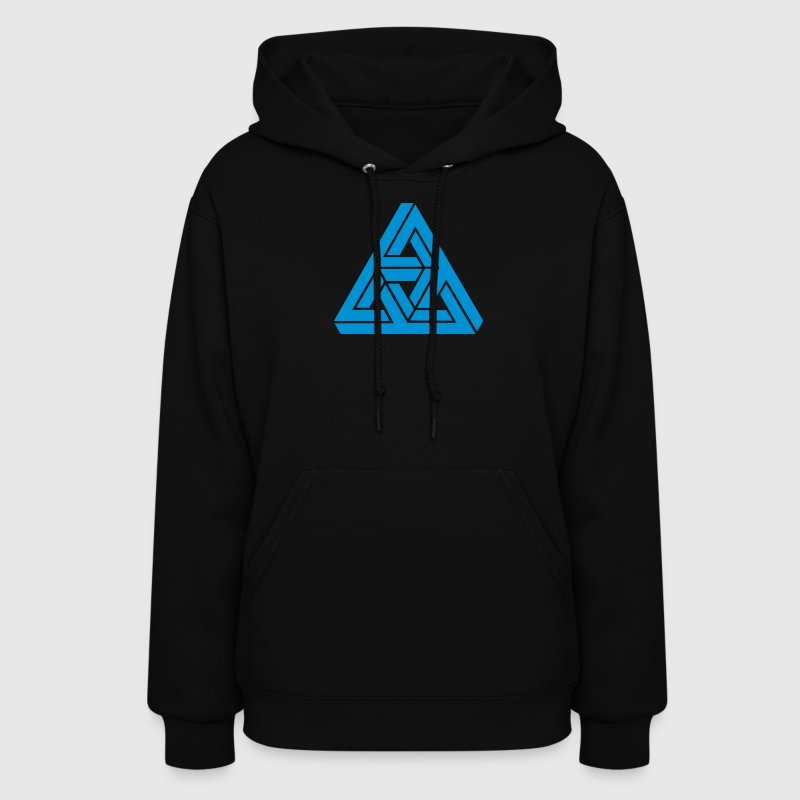 Impossible triangle optical illusion, Escher,  Hoodies - Women's Hoodie