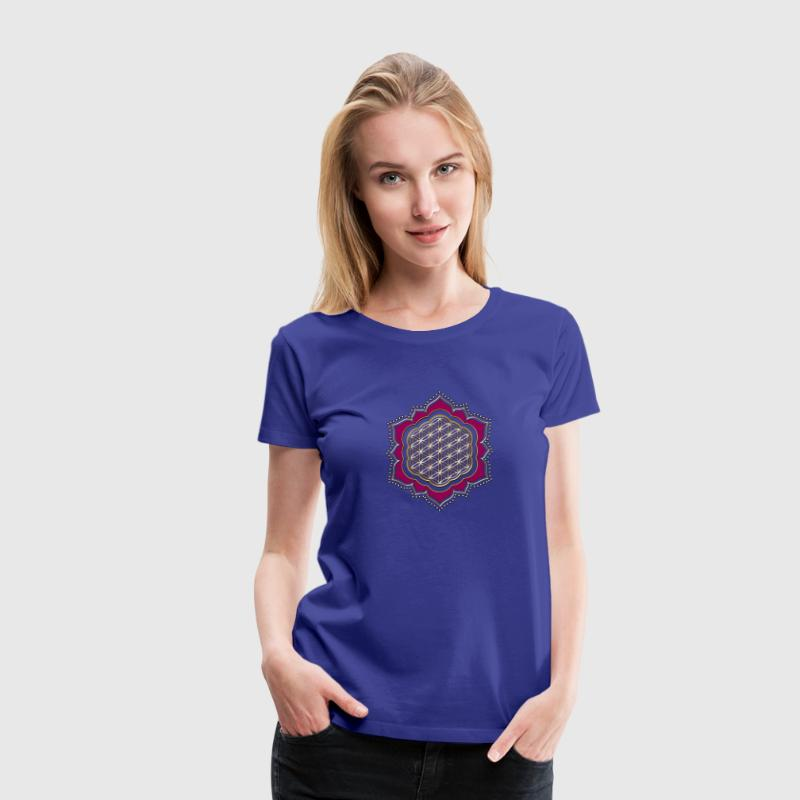 Lotus flower of life, sacred geometry, yoga spirit Women's T-Shirts - Women's Premium T-Shirt