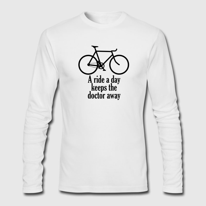 A Ride a Day Keeps the Doctor Away - Men's Long Sleeve T-Shirt by Next Level