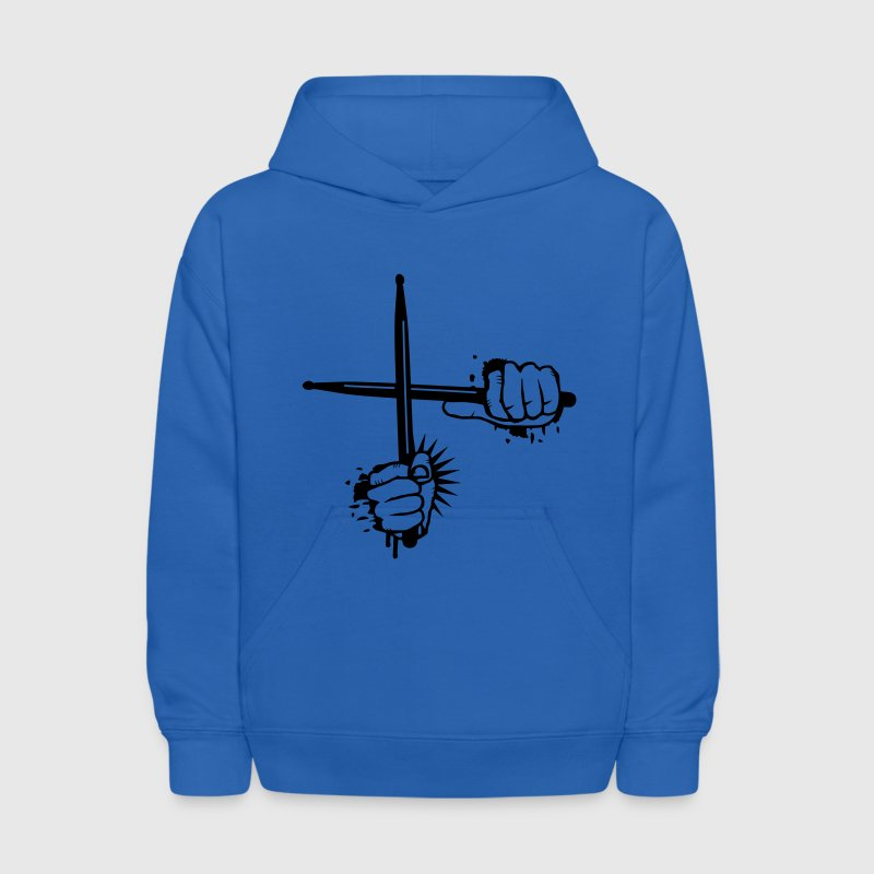 two crossed drumsticks Sweatshirts - Kids' Hoodie