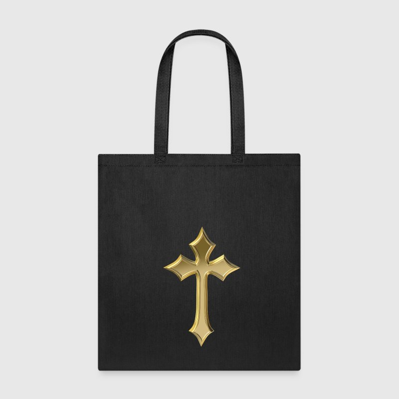 Golden Christian cross - Tote Bag