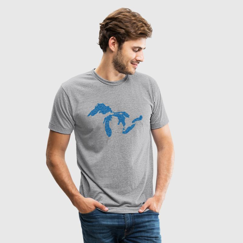 The Great Lakes T-Shirts - Unisex Tri-Blend T-Shirt by American Apparel