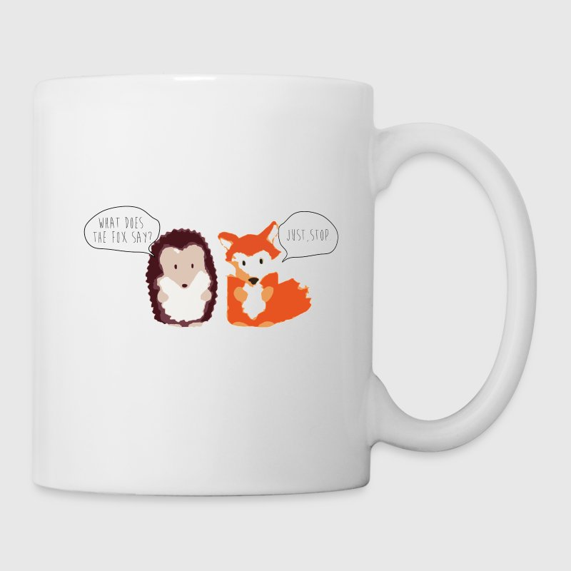 What does the Fox say? Fox and the Hedgehog - Coffee/Tea Mug