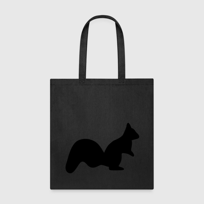 vigilant squirrel chipmunk silhouette Bags & backpacks - Tote Bag