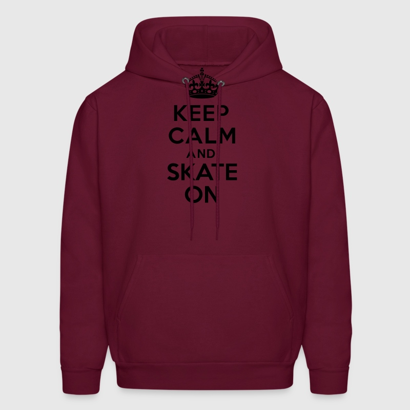Keep calm and skate on Hoodies - Men's Hoodie