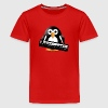 Penguin with a piano keyboard Kids' Shirts - Kids' Premium T-Shirt