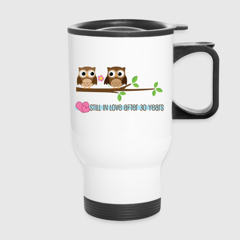 30 Year Anniversary Owl Love Bottles & Mugs - Travel Mug