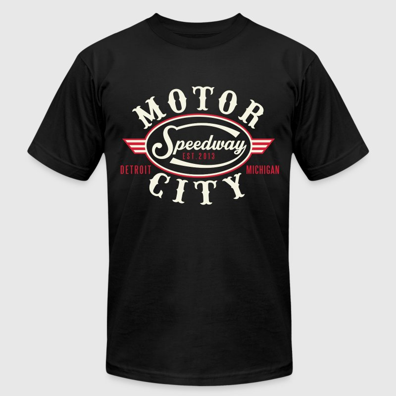 MOTOR CITY SPEEDWAY T-Shirts - Men's T-Shirt by American Apparel