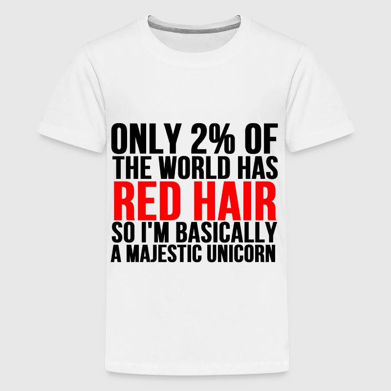 RED HAIR MAJESTIC UNICORN - Kids' Premium T-Shirt