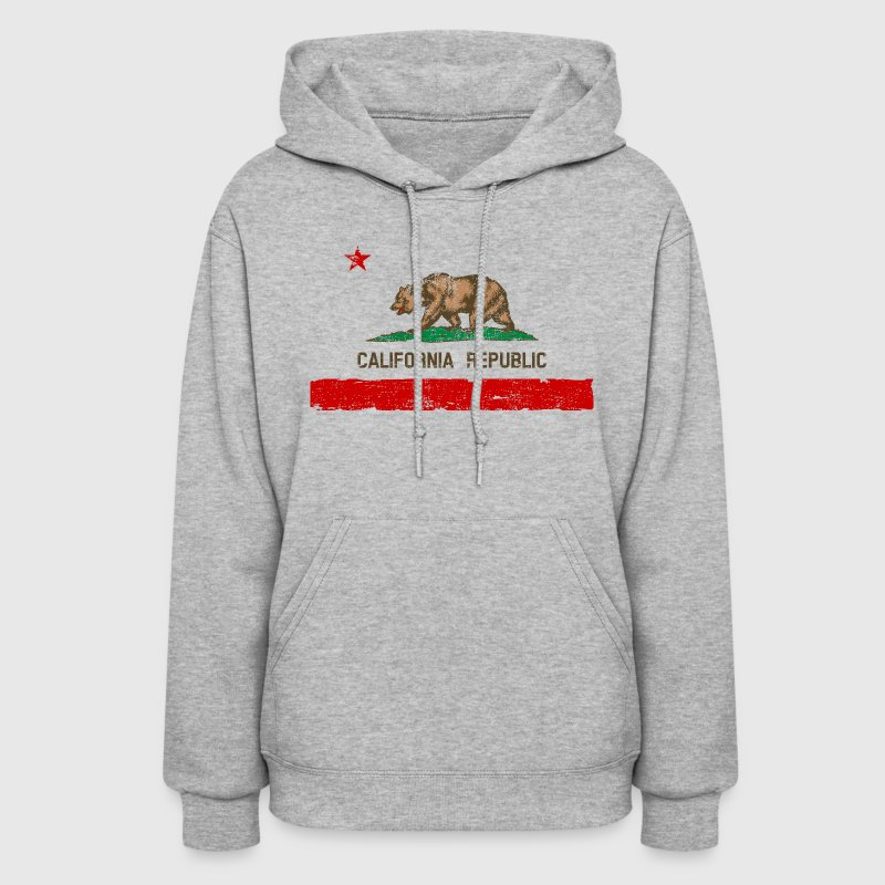 Vintage Distressed California State Flag Womens Ho - Women's Hoodie