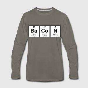 Bacon periodic table element symbols t shirt spreadshirt mens premium long sleeve t shirt urtaz Images