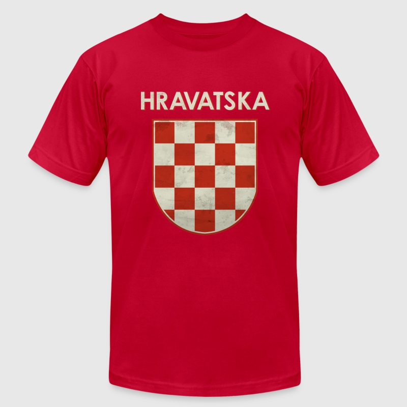 Croatia Retro Football T-Shirts - Men's T-Shirt by American Apparel