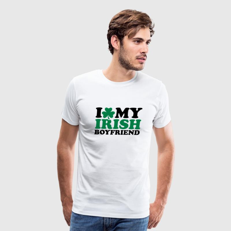 I love My Irish boyfriend T-Shirts - Men's Premium T-Shirt
