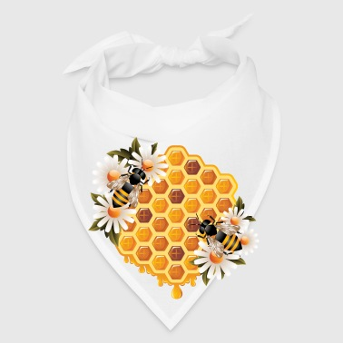 bees flowers honey - Bandana
