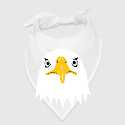 bald eagle american head funny big brother Accessories - Bandana