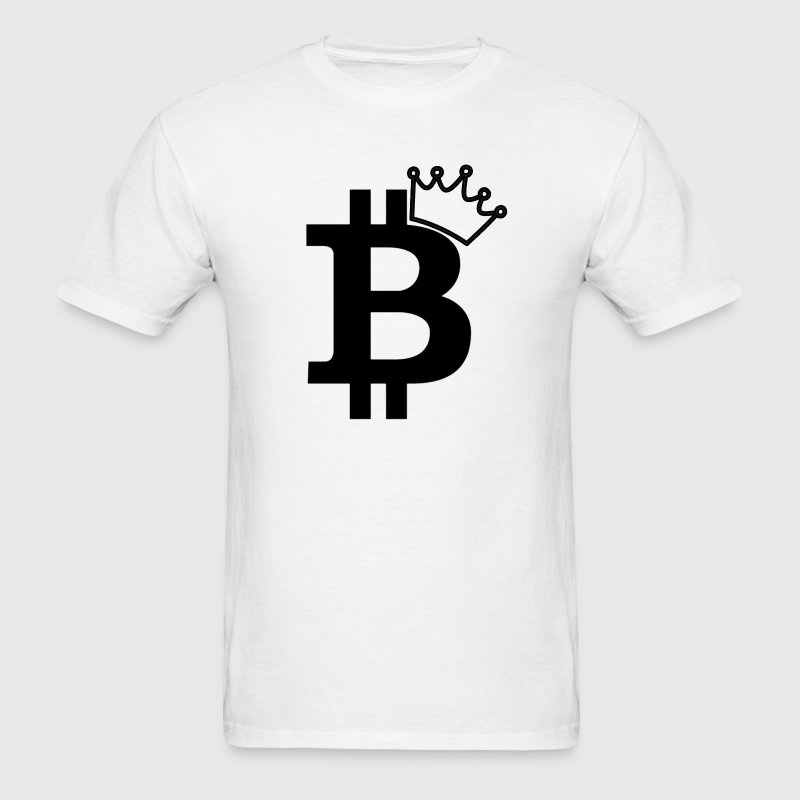 Bitcoin King Geek Nerd - Men's T-Shirt