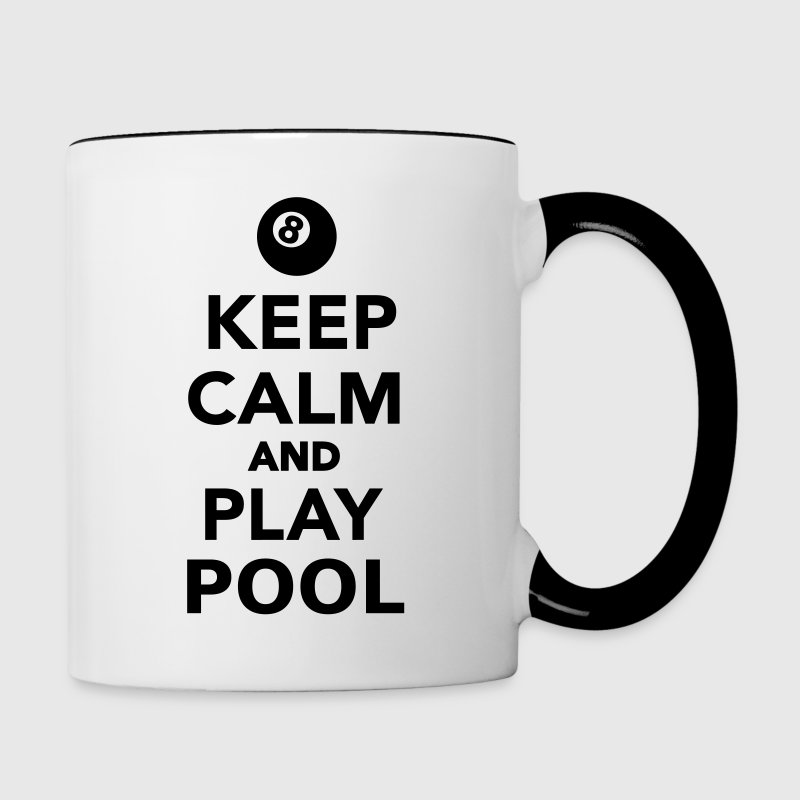 Keep calm and play Pool Accessories - Contrast Coffee Mug