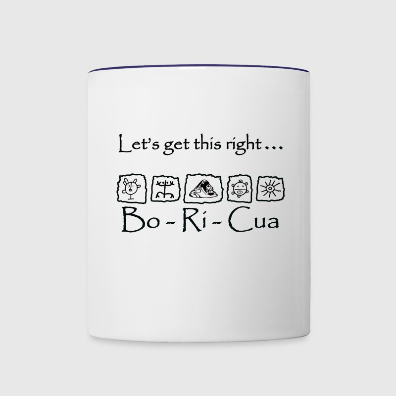 Let's Get This Right! Boricua - Black Accessories - Contrast Coffee Mug