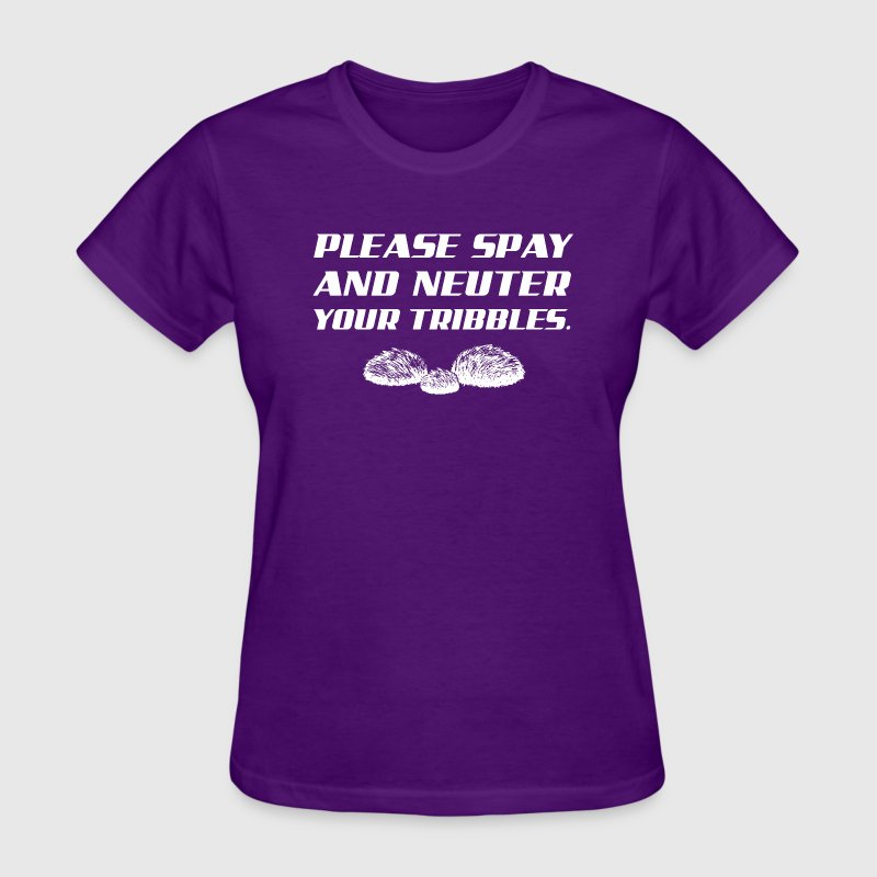 Please Spay and Neuter Your Tribbles George Takei Women's T-Shirts - Women's T-Shirt