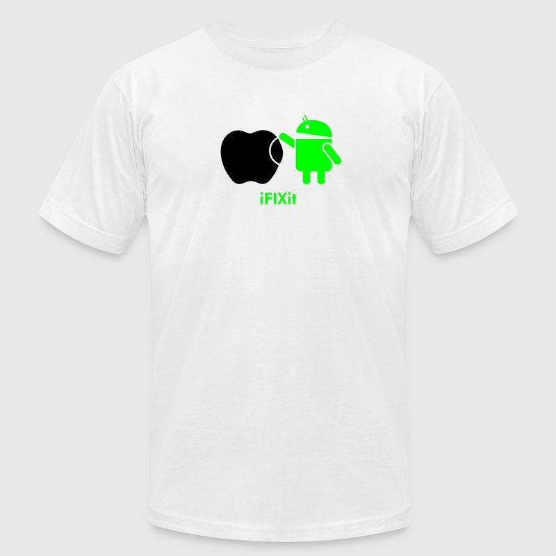 Droid ANDROID fix APPLE  T-Shirts - Men's T-Shirt by American Apparel