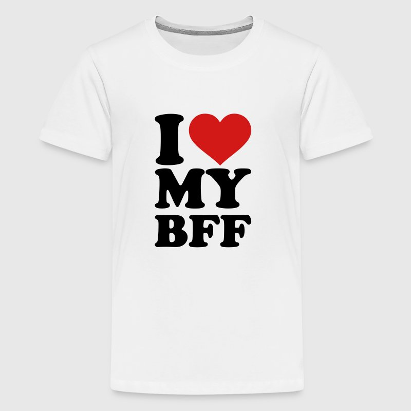 I love my best Friend forever bff Kids' Shirts - Kids' Premium T-Shirt