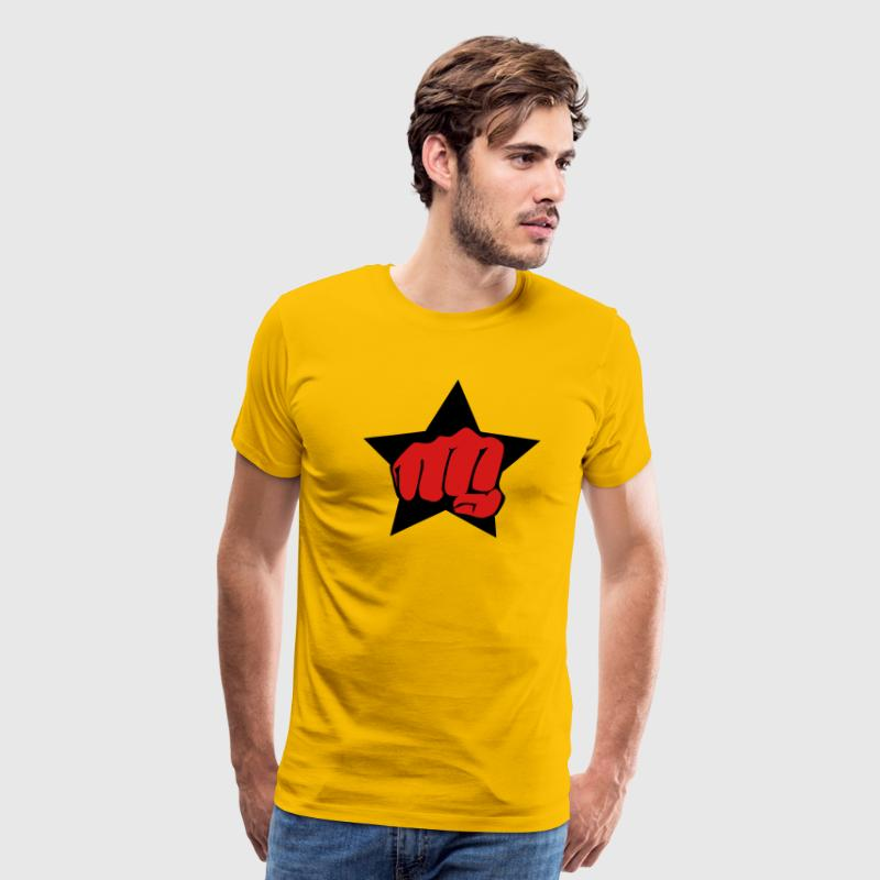 Fist Faust Star Finger Hand fight beat force Desig - Men's Premium T-Shirt