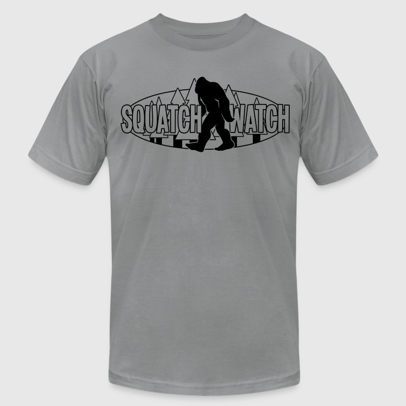 Squatch Watch Logo BW MP T-Shirts - Men's T-Shirt by American Apparel
