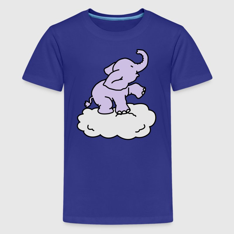 Happy Elephant on cloud (3 colors) Kids' Shirts - Kids' Premium T-Shirt