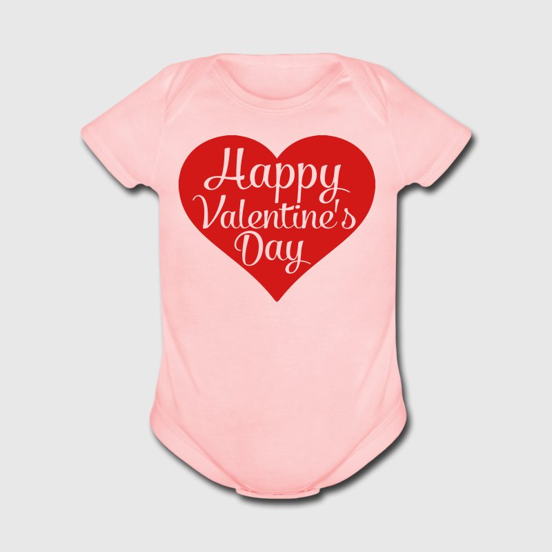 happy valentines day heart Baby & Toddler Shirts - Short Sleeve Baby Bodysuit
