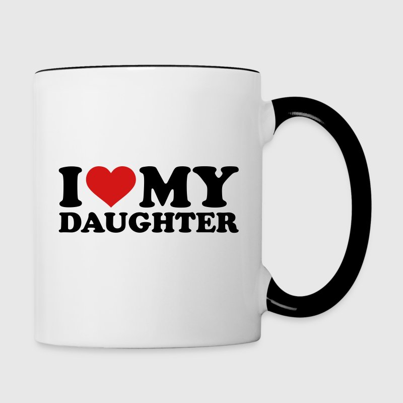 I love my daughter Accessories - Contrast Coffee Mug