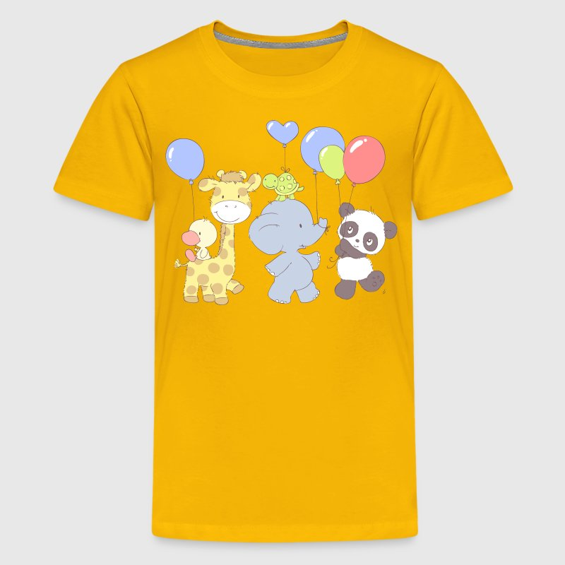 Little Panda Birthday party Kids' Shirts - Kids' Premium T-Shirt