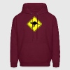Kangaroo road sign australia Hoodies - Men's Hoodie