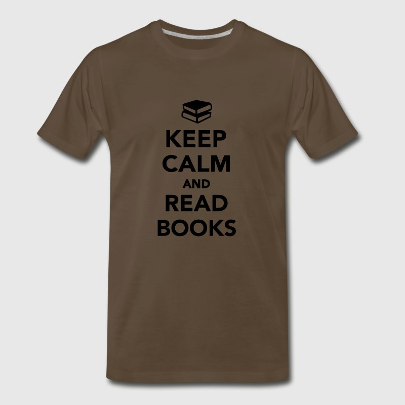 Keep calm and read books T-Shirts - Men's Premium T-Shirt