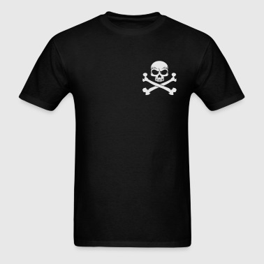 Custom Pirate Skull & Crossbones Jolly Rogers Flag Zip Hoodies & Jackets - Men's T-Shirt