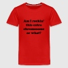 Am I rockin' this extra chromosome or what? Kids' Shirts - Kids' Premium T-Shirt