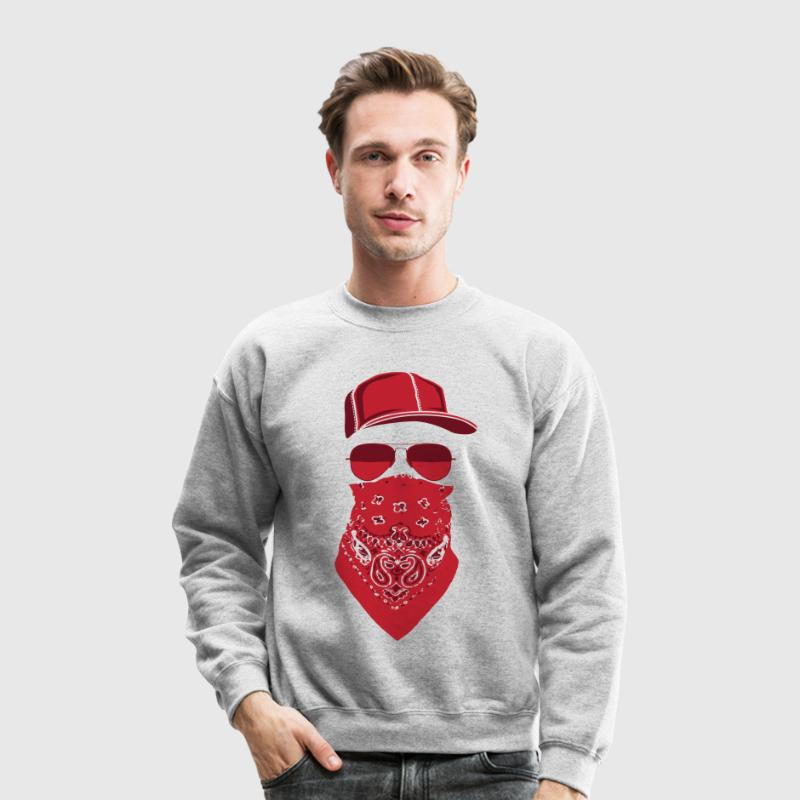 red blood gang member  Long Sleeve Shirts - Crewneck Sweatshirt