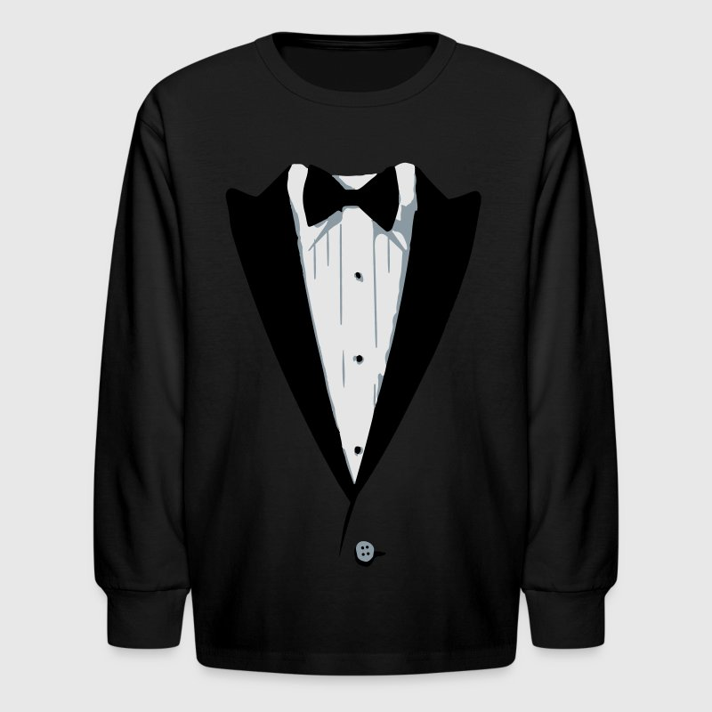 Custom Color Tuxedo Tshirt Kids' Shirts - Kids' Long Sleeve T-Shirt