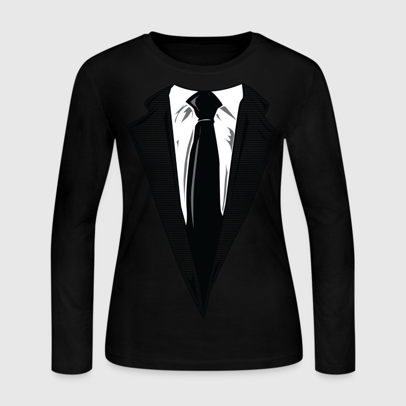 Coat and Tie and Suit and Tie t-shirts Long Sleeve Shirts - Women's Long Sleeve Jersey T-Shirt