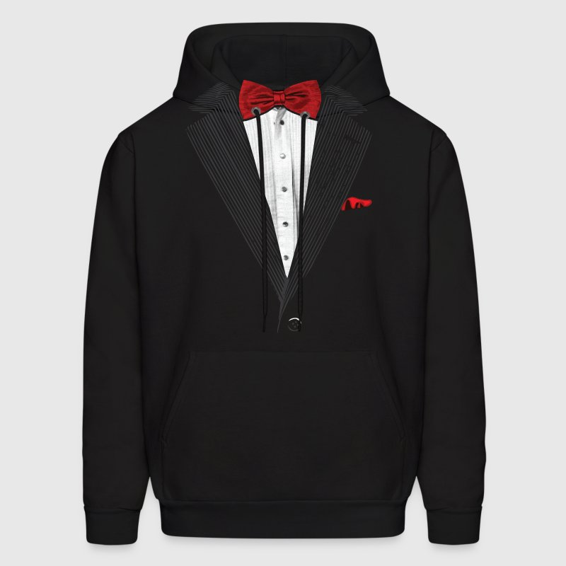 bow tie sear sucker tuxedo Hoodies - Men's Hoodie