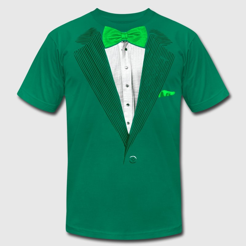 St.Patrick's Day Green Tuxedo Costume T-Shirts - Men's Fine Jersey T-Shirt