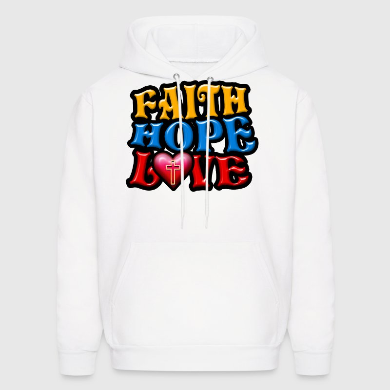 Faith Hope Love Hoodies - Men's Hoodie