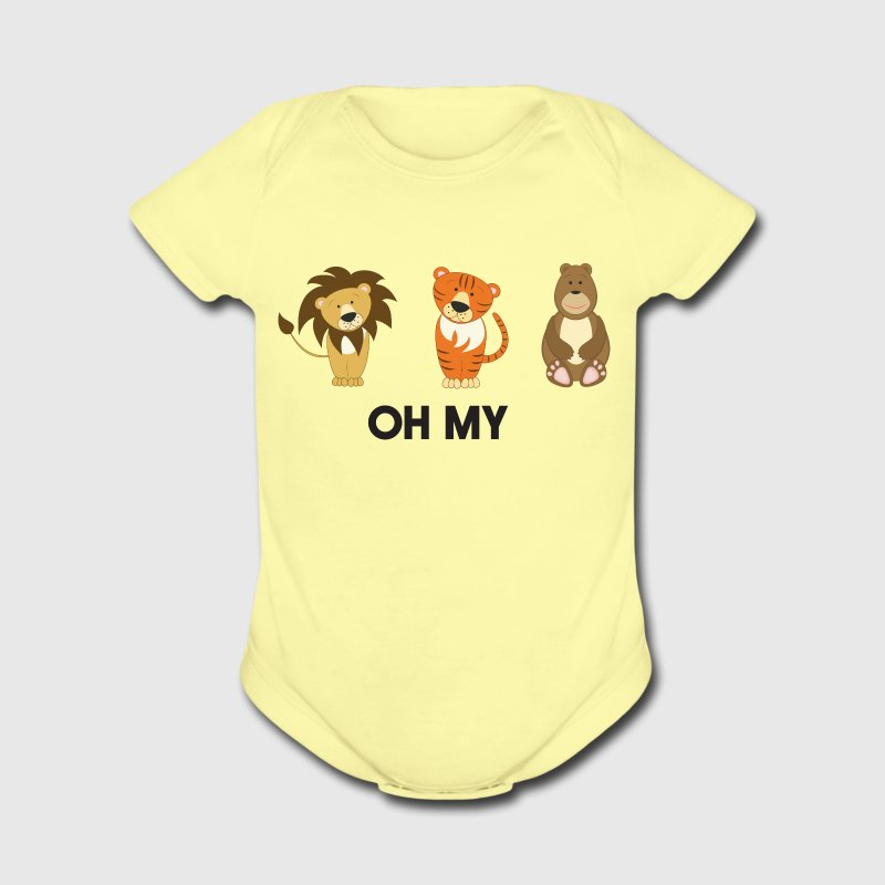 Lions, Tigers, Bears. Oh My! Baby & Toddler Shirts - Short Sleeve Baby Bodysuit