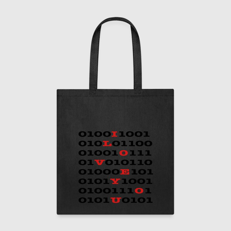 Binary Code - I LOVE YOU Bags & backpacks - Tote Bag