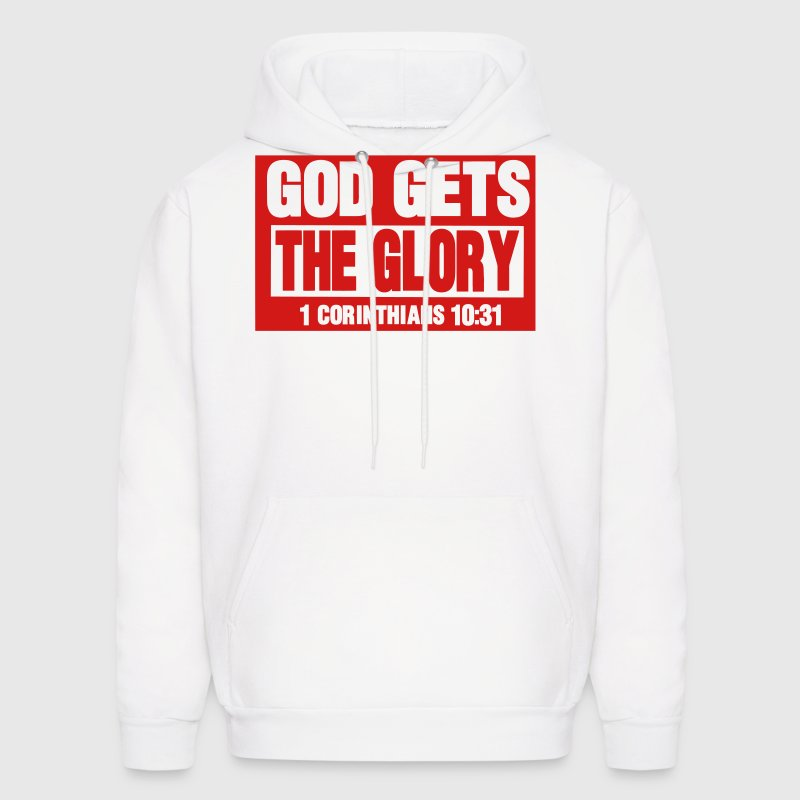 GOD GETS THE GLORY  Hoodies - Men's Hoodie