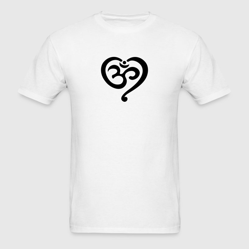 Yoga Heart OM Symbol Love Spirituality Buddhism  T-Shirts - Men's T-Shirt