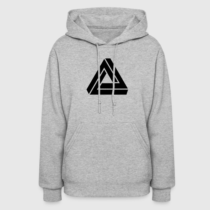 Triangle mathematical Escher endless knot infinity Hoodies - Women's Hoodie