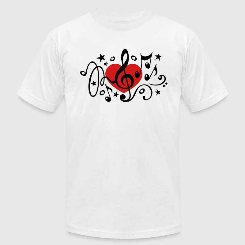 Music heart note i love classic choir star clef t shirt for Love notes brand shirt