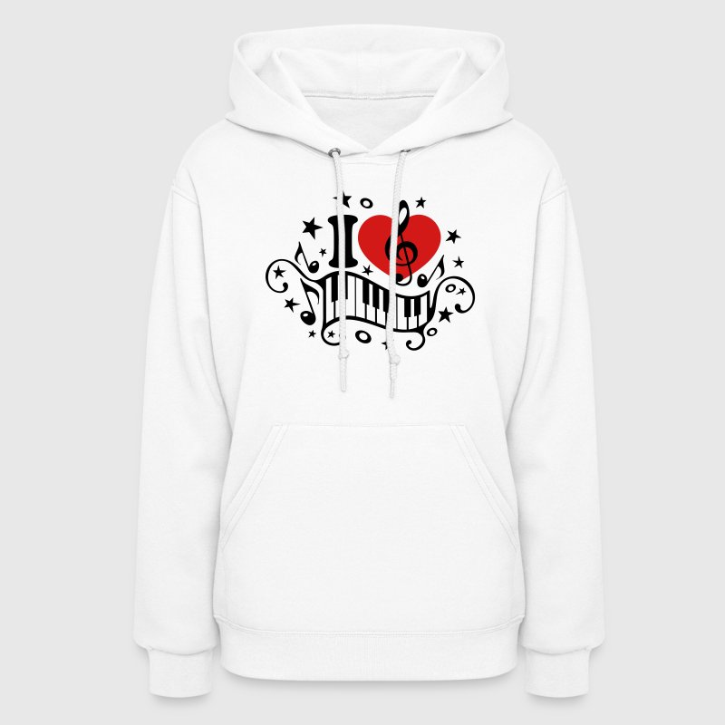 I love music heart note piano clef classic choir  Hoodies - Women's Hoodie
