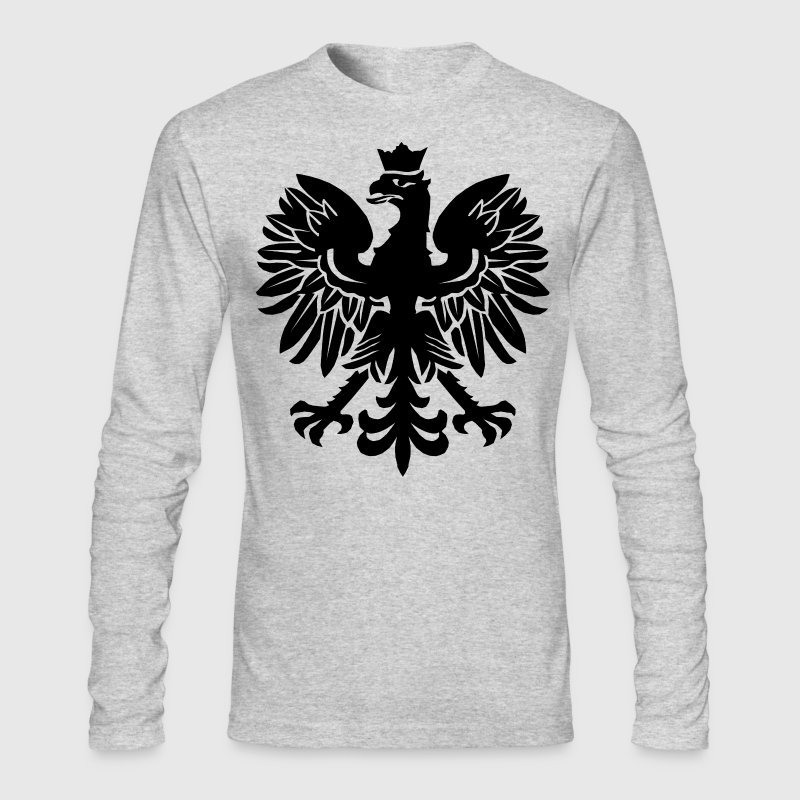 Black Polish Eagle Long Sleeve Shirts - Men's Long Sleeve T-Shirt by Next Level