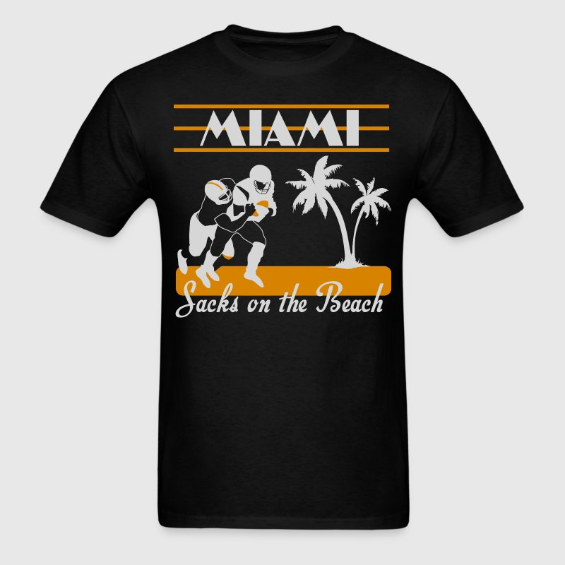 Miami Sacks on the beach - Men's T-Shirt